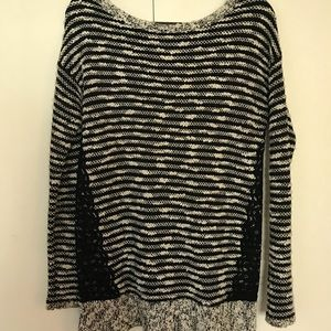 Anthropologie Sweaters - Anthropologie knit sweater with lace